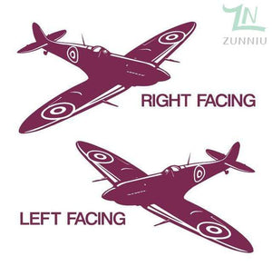 GearNets Fuchsia / 88x57cm WALL ART STICKER BRITISH FIGHTER WW2 AIRCRAFT