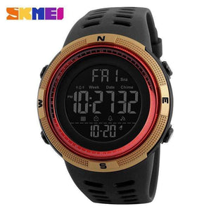 GearNets Gold Red Countdown Double Time Watch