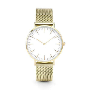 GearNets Gold Stainless Steel Mesh Band Watches