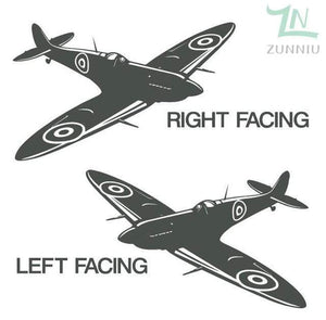 GearNets Gray / 88x57cm WALL ART STICKER BRITISH FIGHTER WW2 AIRCRAFT