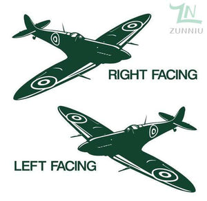 GearNets Green / 88x57cm WALL ART STICKER BRITISH FIGHTER WW2 AIRCRAFT