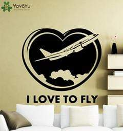 GearNets H622 Black / 42x39cm I Love To Fly