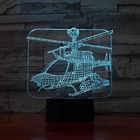 GearNets Helicopter 3D Lamp