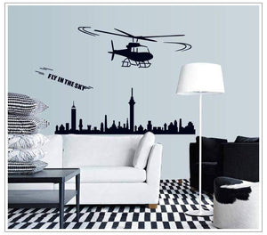 GearNets Helicopter Home Decorated Sticker