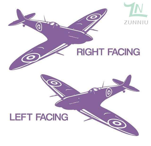 GearNets Hydrangea Purple / 88x57cm WALL ART STICKER BRITISH FIGHTER WW2 AIRCRAFT