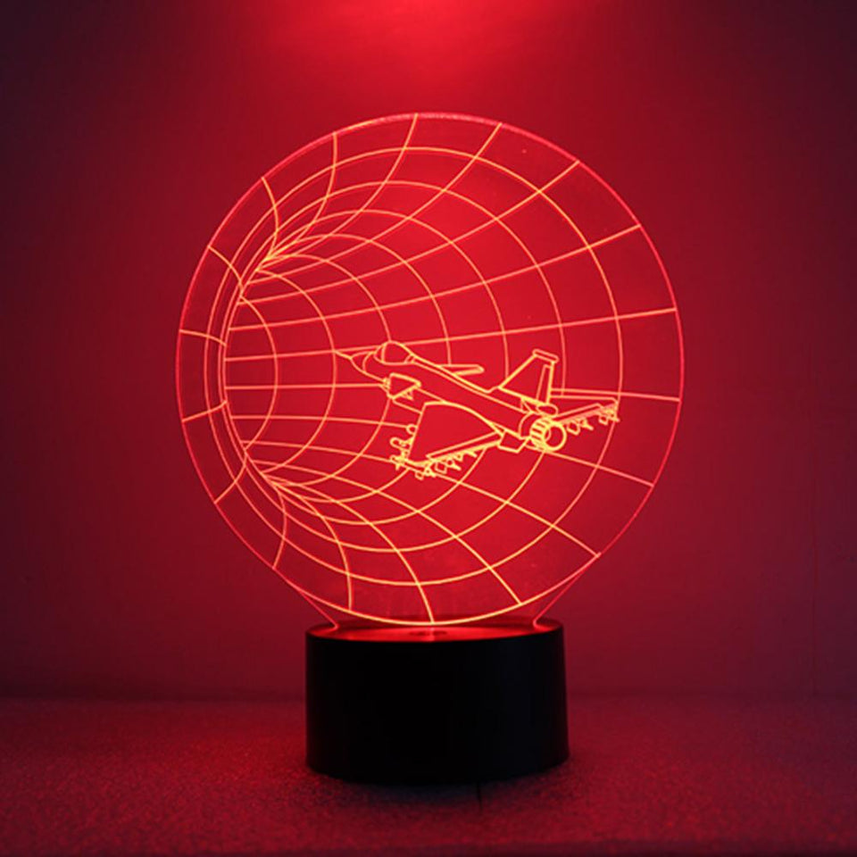 GearNets LED Night Light Aircraft 3D Lamp