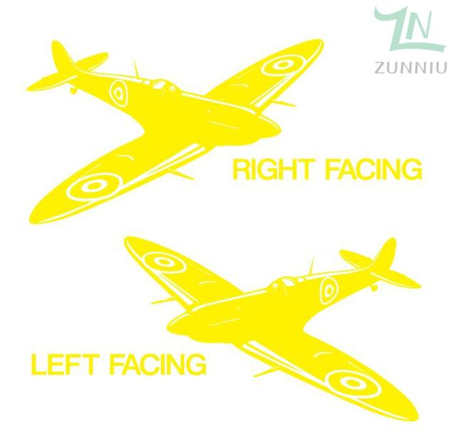 GearNets Lemon Yellow / 88x57cm WALL ART STICKER BRITISH FIGHTER WW2 AIRCRAFT