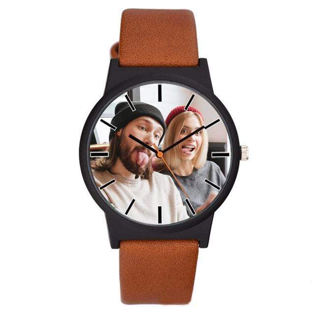 GearNets light brown Photo printing Personalized watch