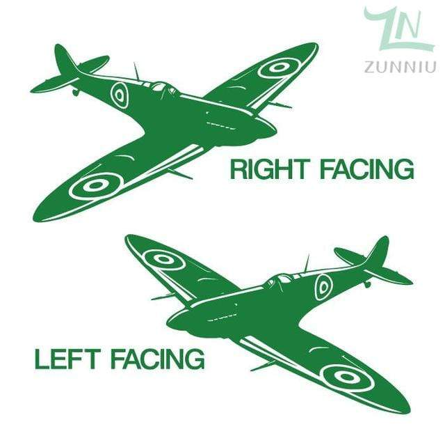 GearNets Light Green / 88x57cm WALL ART STICKER BRITISH FIGHTER WW2 AIRCRAFT