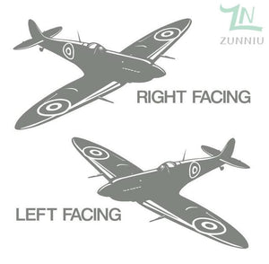 GearNets Light Grey / 88x57cm WALL ART STICKER BRITISH FIGHTER WW2 AIRCRAFT