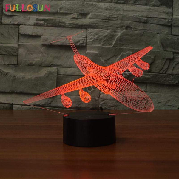 GearNets LOCKHEED C-5 GALAXY SAUIR 3D LAMP 8 changeable colors