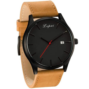 GearNets Luxury Leather Business Quartz Watch