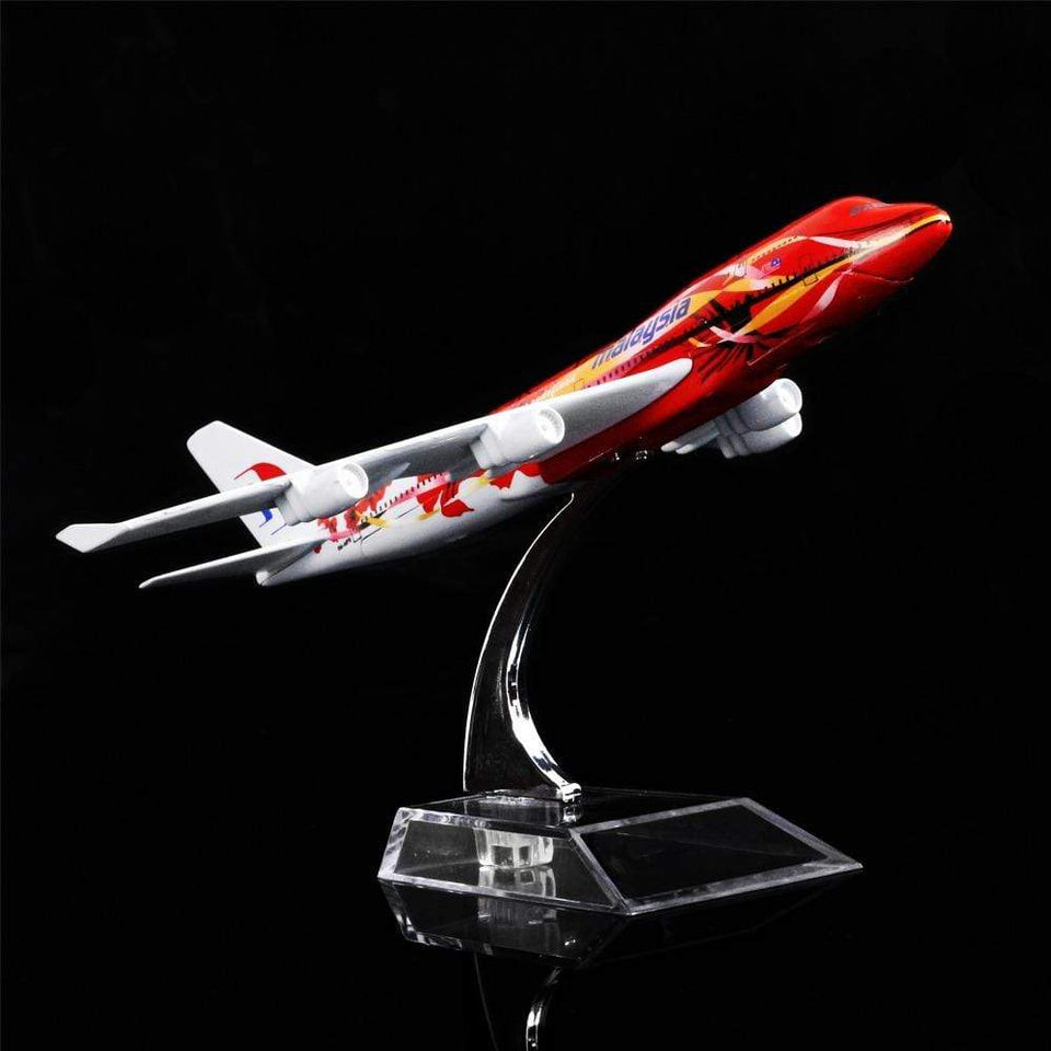 GearNets Model Aircraft 1:400 16cm The 747 Malaysia Hibiscus Metal Airplane Model
