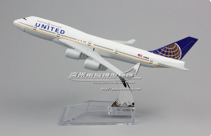 GearNets Model Aircraft 16cm Air United Airlines The 747-400