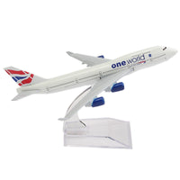 GearNets Model Aircraft 16CM Metal B747 Britain One World