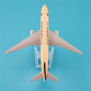 GearNets Model Aircraft 16cm The 777 Saudi Arabian Airways Metal Airplane Model
