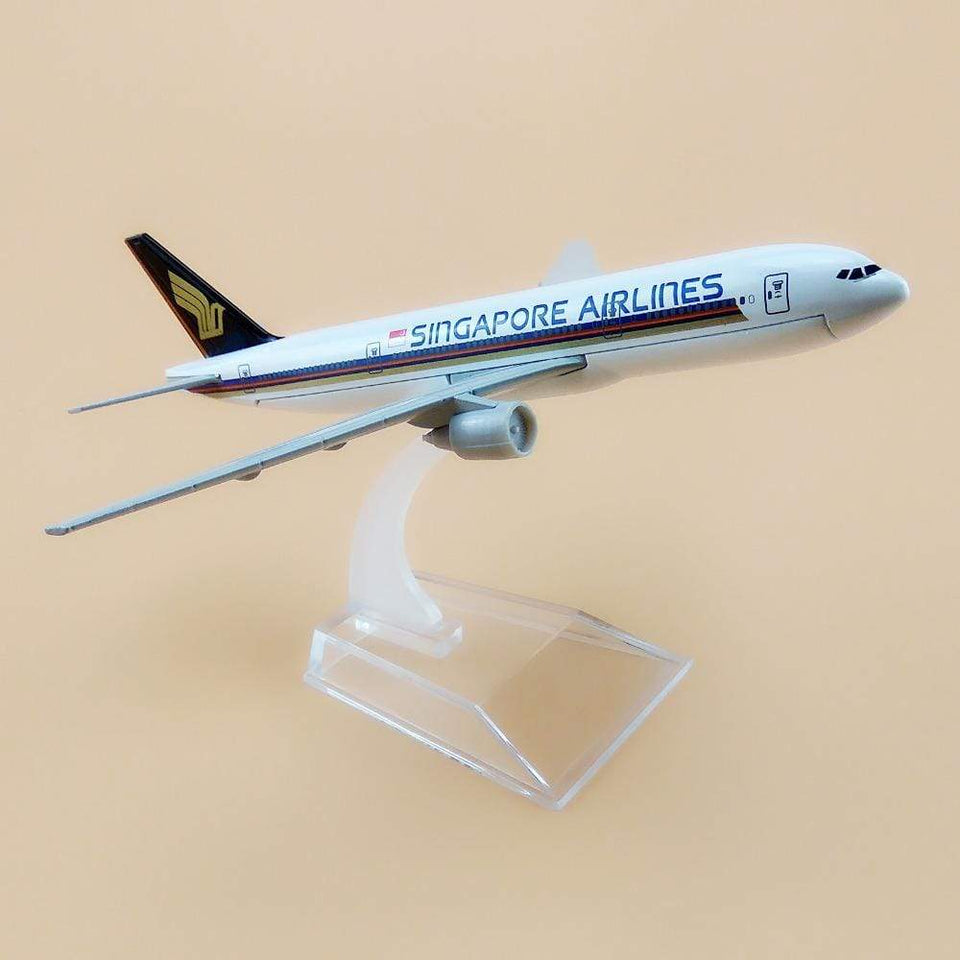 GearNets Model Aircraft 16cm The 777 Singapore Airlines Metal Airplane Model
