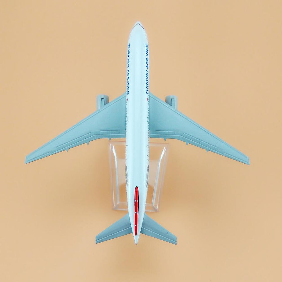 GearNets Model Aircraft 16cm The 777 TURKISH Airlines Metal Plane Model