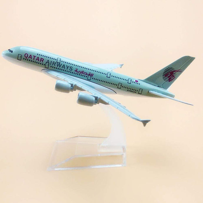 GearNets Model Aircraft Qatar Airbus 380 16cm Metal Airplane Models