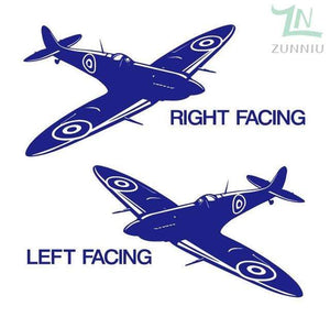 GearNets Navy Blue / 88x57cm WALL ART STICKER BRITISH FIGHTER WW2 AIRCRAFT