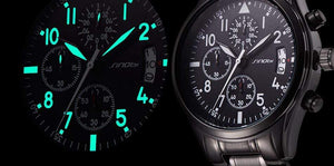 GearNets New Pilot Mens Chronograph Wrist Watch