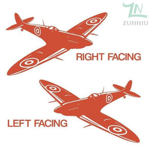 GearNets Orange / 88x57cm WALL ART STICKER BRITISH FIGHTER WW2 AIRCRAFT