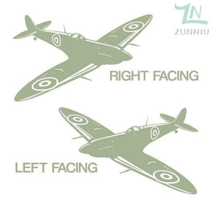 GearNets Pea Green / 88x57cm WALL ART STICKER BRITISH FIGHTER WW2 AIRCRAFT