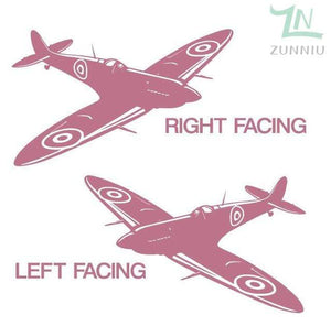 GearNets Pink / 88x57cm WALL ART STICKER BRITISH FIGHTER WW2 AIRCRAFT