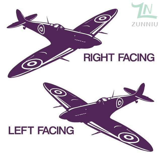 GearNets Plum / 88x57cm WALL ART STICKER BRITISH FIGHTER WW2 AIRCRAFT