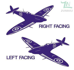 GearNets Purple / 88x57cm WALL ART STICKER BRITISH FIGHTER WW2 AIRCRAFT