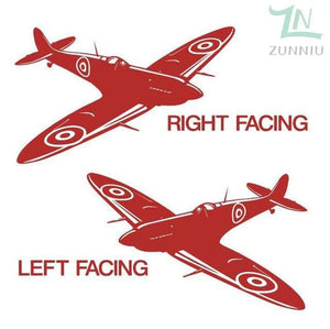 GearNets Red / 88x57cm WALL ART STICKER BRITISH FIGHTER WW2 AIRCRAFT