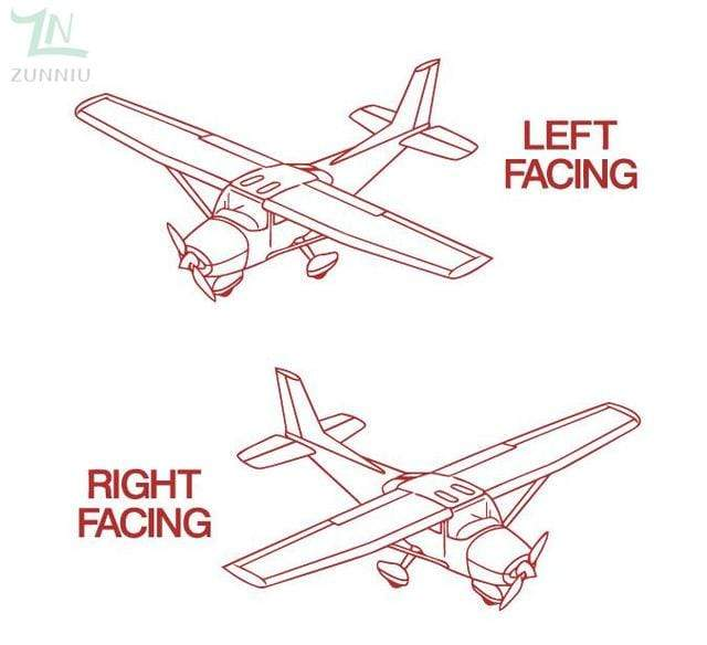 GearNets Red / 96x57cm CESSNA room wall stickers