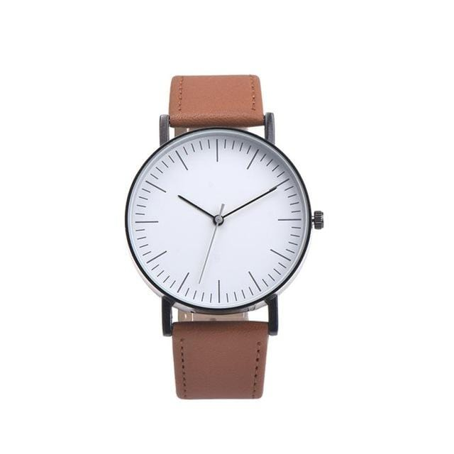 GearNets Rose Gold Retro Design Leather Band