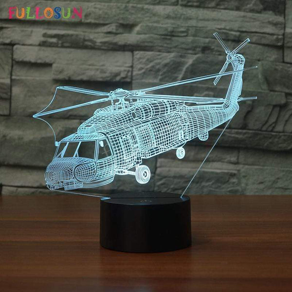 GearNets SIKORSKY SH-60 SEAHAWK 3D LAMP 7 CHANGEABLE COLORS