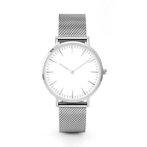 GearNets Silver Stainless Steel Mesh Band Watches