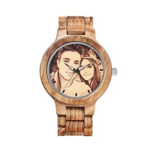 GearNets Sketch print Custom Watch Vintage Zebra Full Wooden Mens Watches
