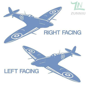 GearNets Sky Blue / 88x57cm WALL ART STICKER BRITISH FIGHTER WW2 AIRCRAFT