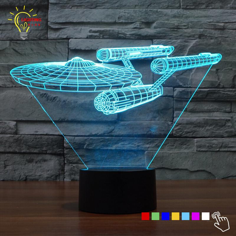 GearNets Space Craft 3D LAMP 8 changeable colors