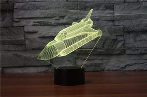 GearNets SPACE SHUTTLE 3D LAMP 7 CHANGEABLE COLORS