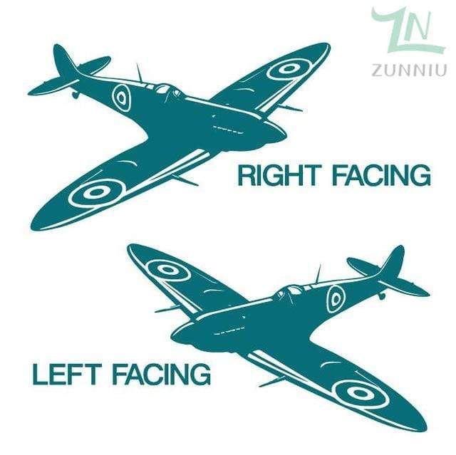 GearNets Teal / 88x57cm WALL ART STICKER BRITISH FIGHTER WW2 AIRCRAFT