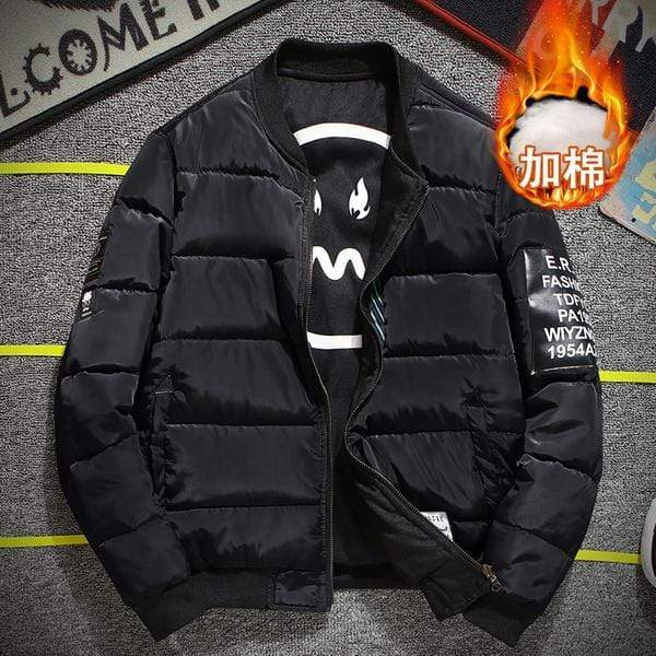 GearNets Thick Black / M Grandwish Bomber Jacket Men Pilot