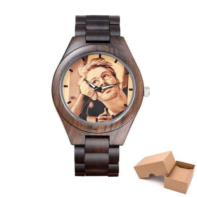 GearNets wood band with box Customized Photo Wooden Watch