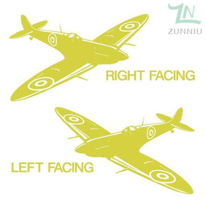 GearNets Yellow / 88x57cm WALL ART STICKER BRITISH FIGHTER WW2 AIRCRAFT