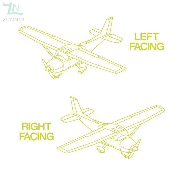 GearNets Yellow / 96x57cm CESSNA room wall stickers