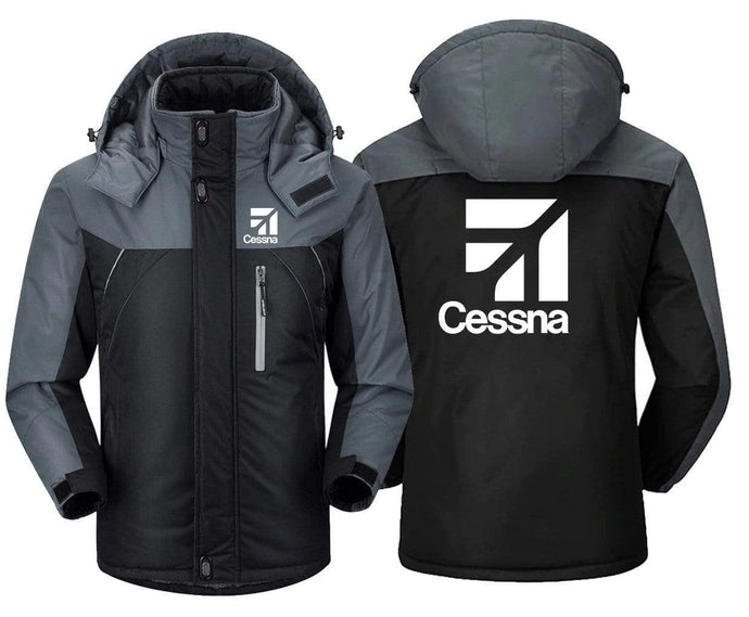 MA1 Windbreaker Black Gray / XS CESSNA- LOGO DESIGN WINDBREAKER