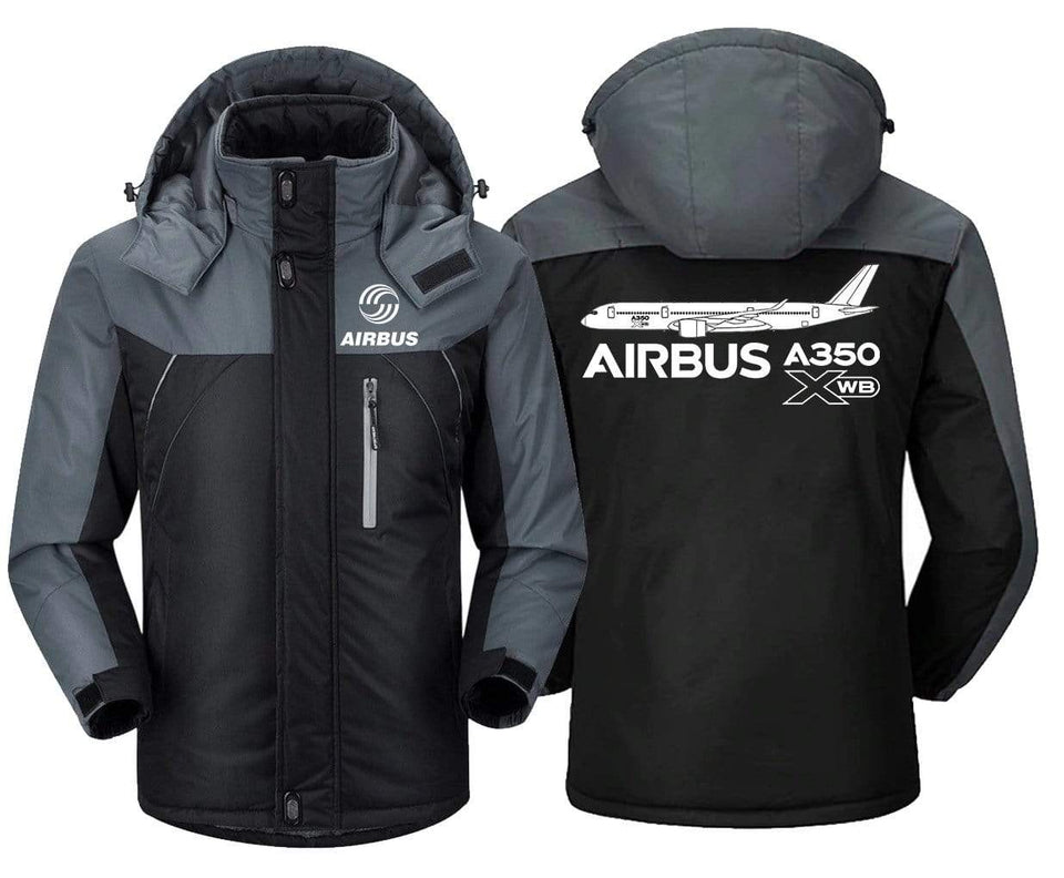 MA1 Windbreaker Jackets Black Gray / XS Airbus A350 XBW