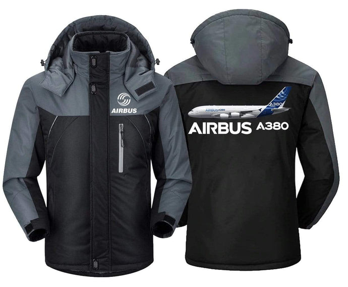 MA1 Windbreaker Jackets Black Gray / XS Airbus A380