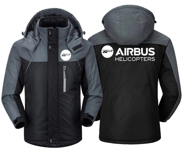 MA1 Windbreaker Jackets Black Gray / XS AIRBUS -HELICOPTER