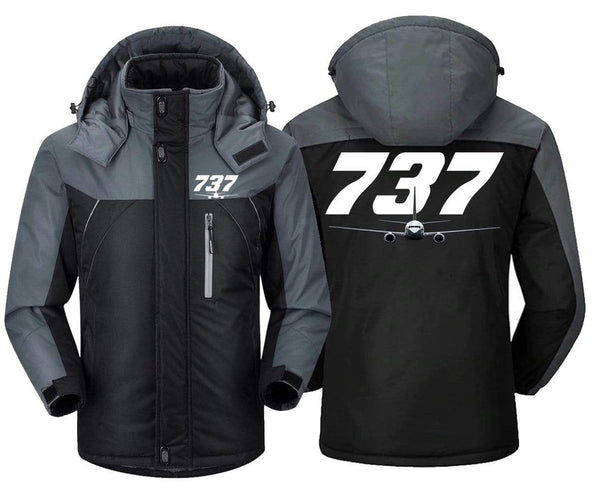 MA1 Windbreaker Jackets Black Gray / XS Boeing -737