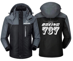MA1 Windbreaker Jackets Black Gray / XS Boeing- 737